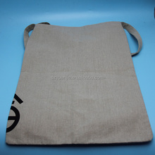 promotional foldable Jute shopping bag with printed logo wholesale