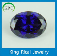 Customize oval synthetic tanzanite cubic zirconia loose stones