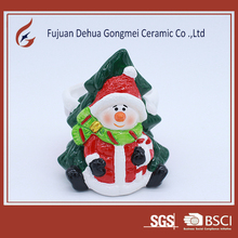 Snowman decor desgin ceramic christmas flower pot