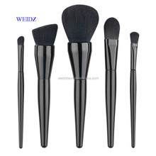 WEIDZ luxry high quality wood handle 5pcs black makeup brushes professional makeup kits MK017