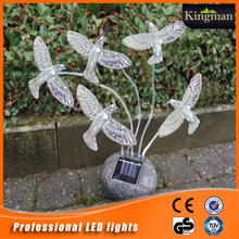 best-selling fashion resin bird LED solar garden light led garden light