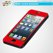 new product color tempered glass screen protector for iphone 5