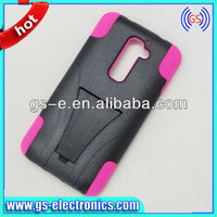 China wholesale Kickstand shockproof robot hybrid combo smart phone cover case for LG G2