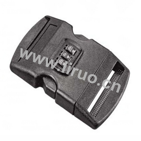 Plastic Side Release Buckle w/ Combination Locks 2""