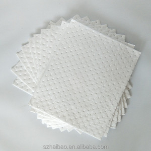 300gsm 100% Polypropylene Oil Absorbent Pads For Spillage Clean-up