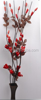 Red Artificial Dried Flowers Various Styles for Home or Party Decor
