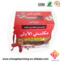 Children education fantastic cardboard cards and books packaging box