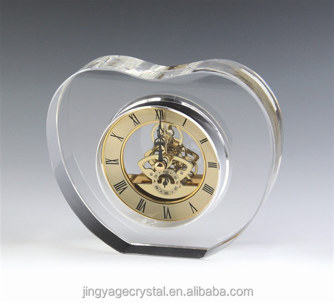 High quality apple shape Crystal Clock