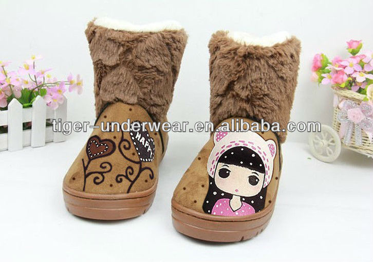 100% Hand-painted Girls Cute Snow Boots For Girls - Buy Snow Boots ...