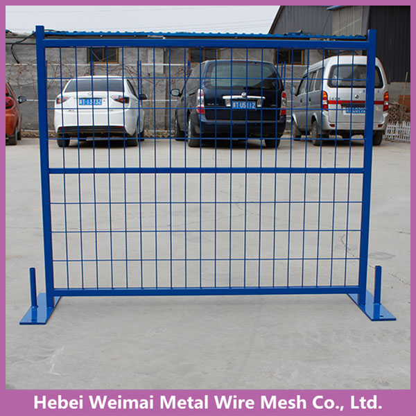 Safety temporary metal fence panels