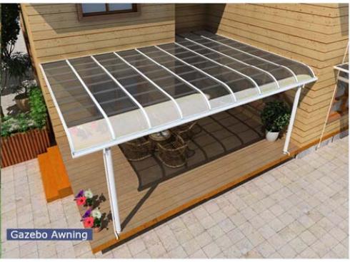 Aluminium terrasse auvent avec polycarbonate toit-Auvents-ID de ...