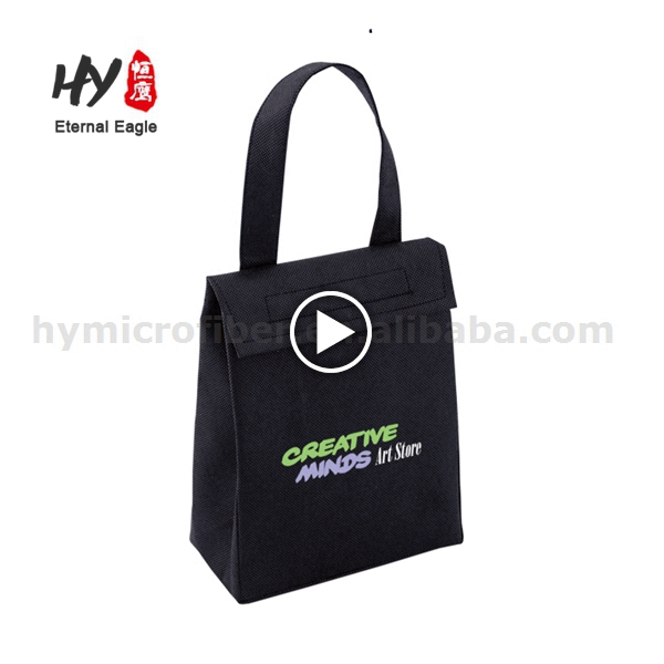 Multifunctional promotional nonwoven tote bag