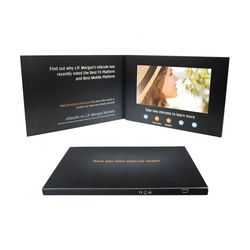 Hot Sale 7'' hardcover video book LCD card 7 inch voice