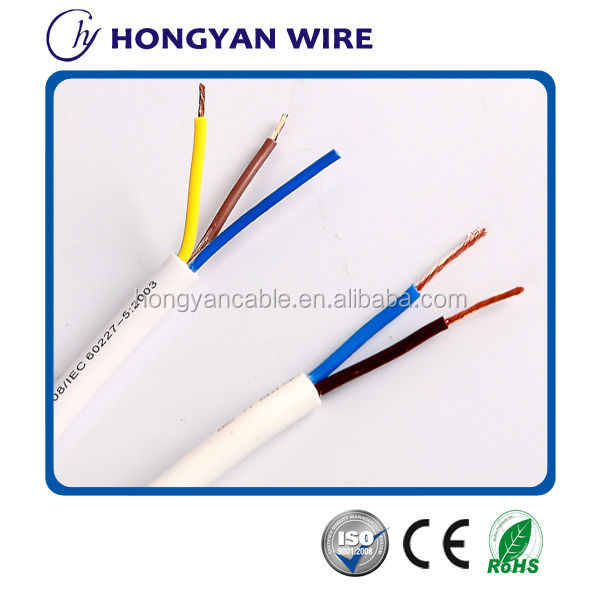 450/750V oxygen-free copper PVC insulated electric wire cable hs code copper cable code from shenzhen