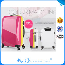 3pcs set hard shell luggage, stock pc abs trolley suitcase factory price