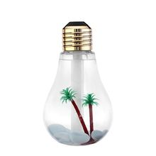 2017 new special bulb-shaped air humidifier seven color light with 400mL water tank capacity LED light bulb lamp for room&office