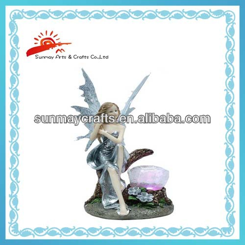 Polyresin Fairy figurine for home decoration