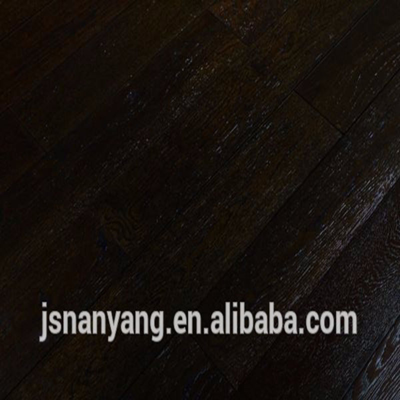 high quality black <strong>oak</strong> engineered wood flooring chinese wooden floor manufacturer