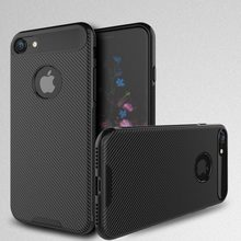 For iphone 7 case,black carbon fiber texture cases mobile phone back cover for iphone7 cover
