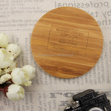 Custom made cheaper qi standard wireless charger wood 1 coil smart phone fast charger