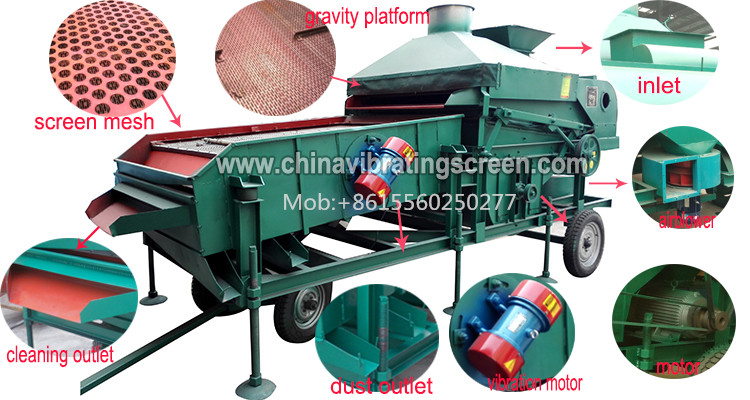 Efficient alfalfa seeds castor bean cleaner gravity grader