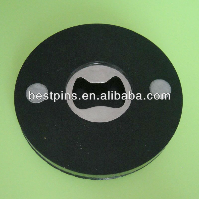 plastic rubber customized round shape tyre bottle opener