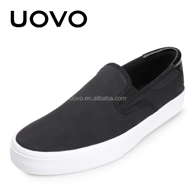 wholesale slip on black fashion men canvas shoes