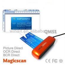 mini usb business card scanner with CE,FCC,Rohs