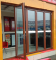 hongtai australia AS2047 standard double glass folding used commercial glass doors