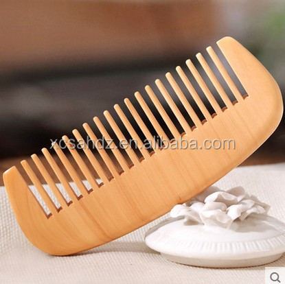 OEM Logo Engraved Beard Hair Brush Wooden Comb