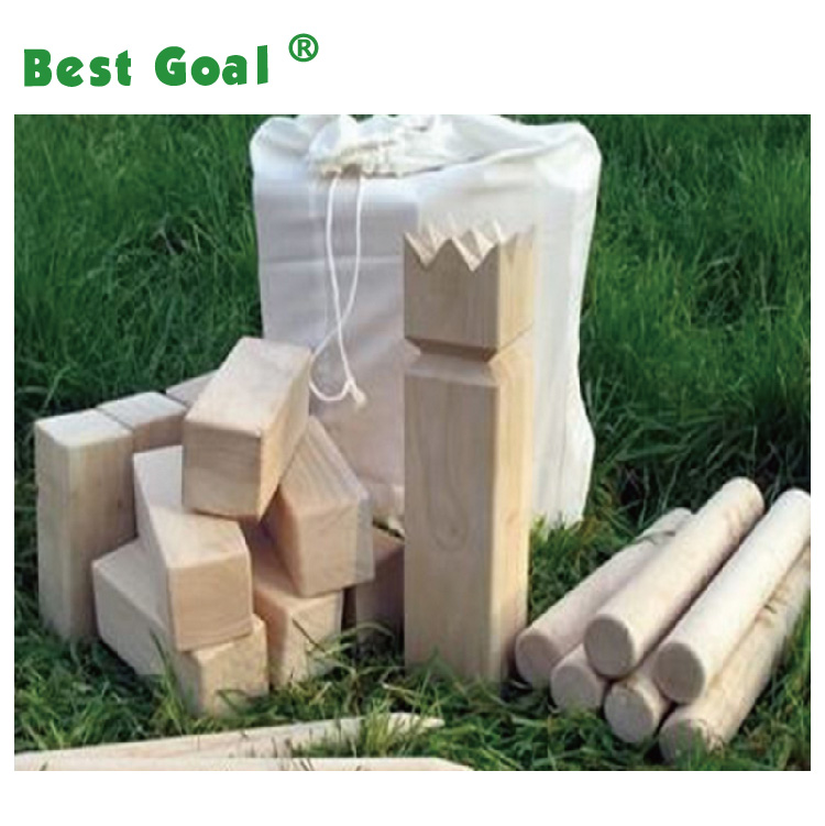 Outdoor wooden Kubb Game Premium Set