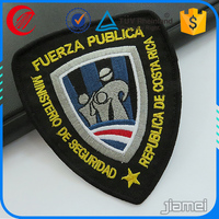 Cheap machine custom shield badges embroidery