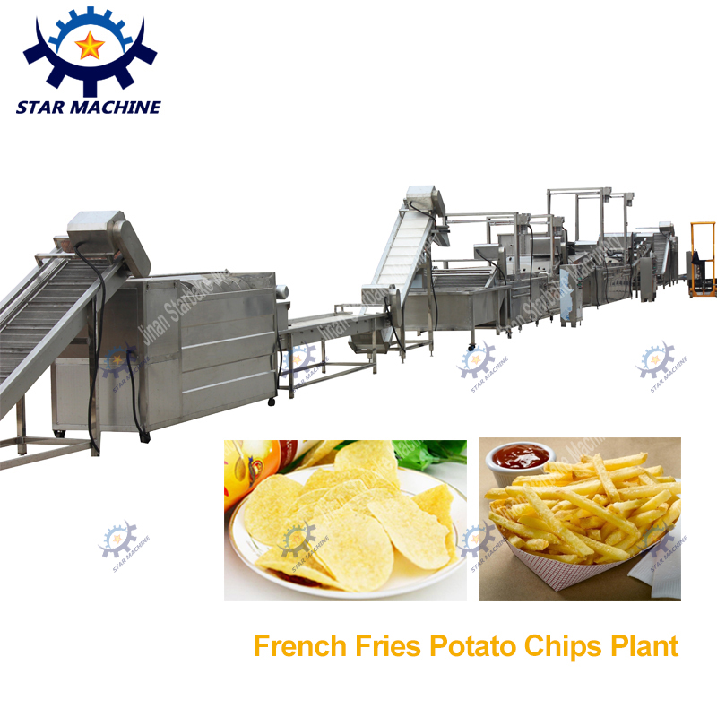 Frozen french fries production line 500KG/H capacity