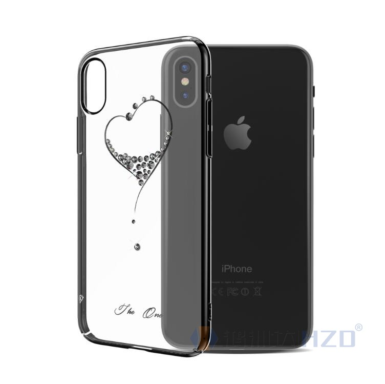 Kingxbar Diamond Case For iphone X Bling Bling Diamond Hard PC Case For Iphone X HD-994