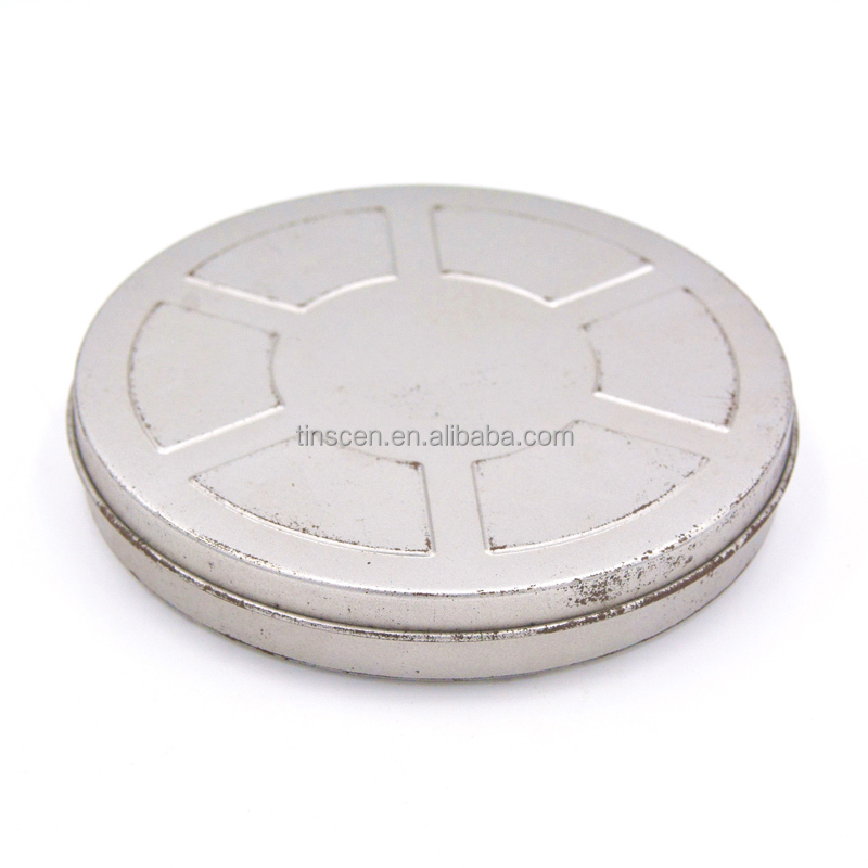 customized round plain movie metal can ,movie tin for DVD,film tin can