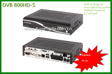 new dvb800hd Linux system digital satellite receiver with Sim2.10