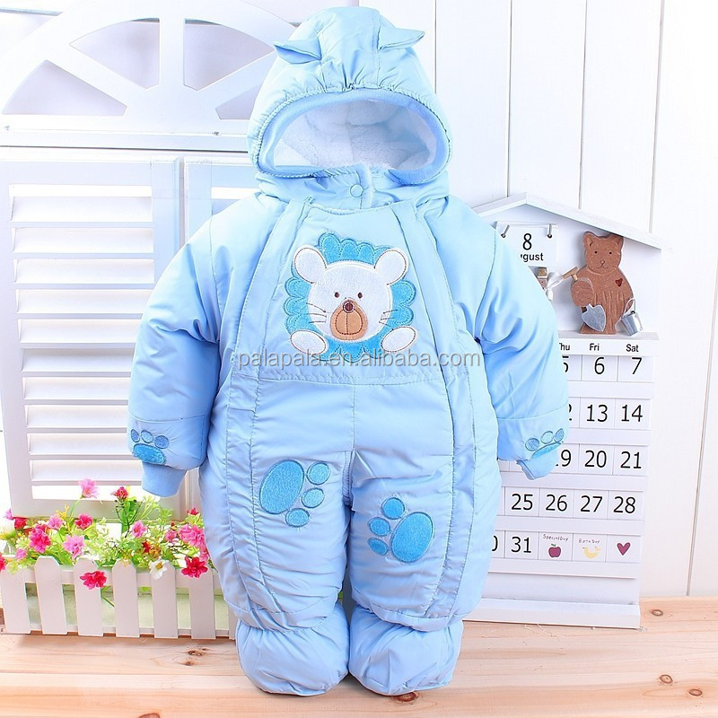 Winter warm Newborn Infant Baby Clothes Fleece Animal Style Clothing Romper Baby Clothes Cotton-padded Overalls