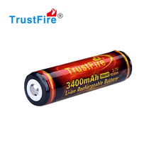high capacity 3400mah 3.7V rechargeable lithium battery 18650