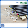 2016 Wholesale customized slap-up black wood HB pencil with lovely pendant for kids