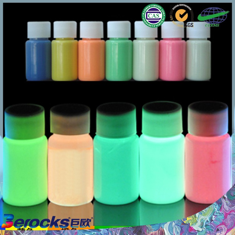 Water based colorful luminous paint /Glow in the dark paint powder glitter