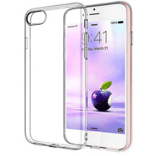 2 Hole 0.6 MM Blank TPU Phone Case For ip 7 7 Plus 6 6 Plus