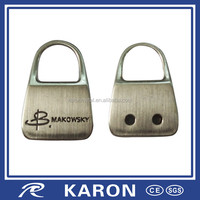 promotional lock shape name tag key chain