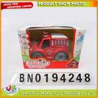 Cartoon Animal Funny Fire Truck Battery Operated Bump Go Function