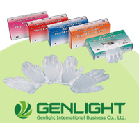 High quality non-sterile Examination 100pcs packing Vinyl gloves