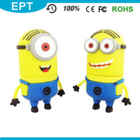 Cartoon USB 3.0 Yellow Minions PVC 32GB USB Flash Drive