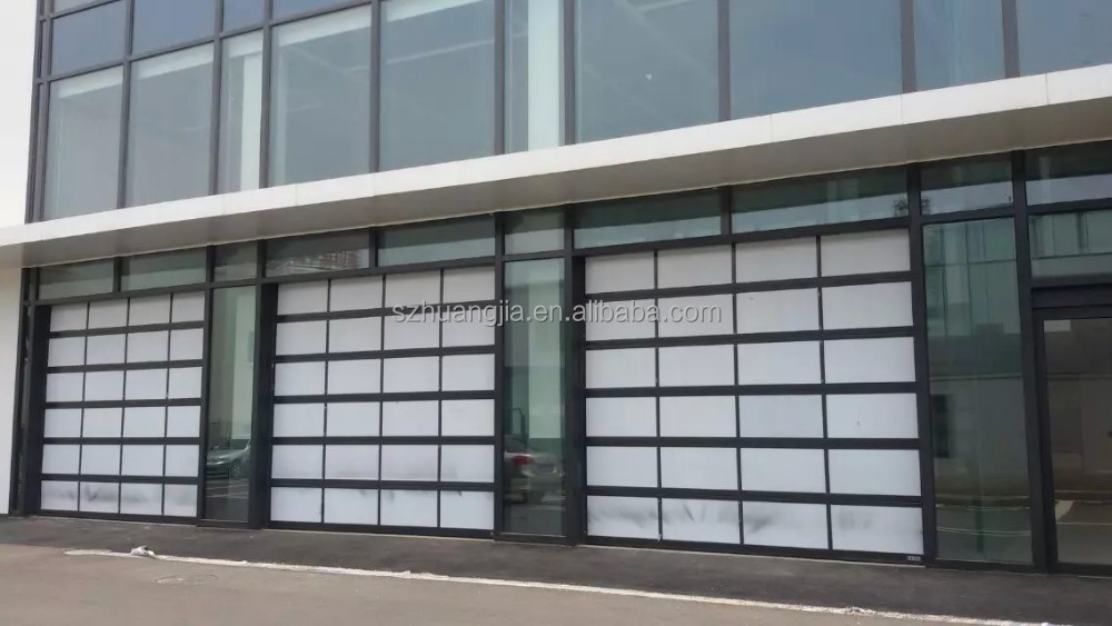 Residential Automatic Superlift Fire Rated Sectional Customized Glass Garage Door Competitive Price