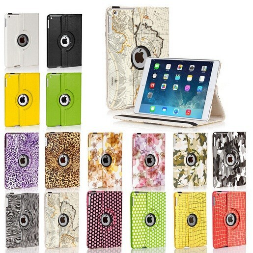 For iPad Air 2/iPad 6 Leather Case, For iPad Air 2 Rotation Case