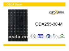 TUV MCS CEC certificated monocrystalline 255W solar panel
