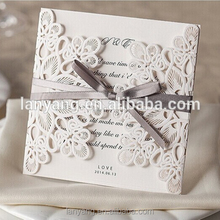 White Square Laser Cut Wedding Invitation Suite Custom in your colors wholesale alibaba