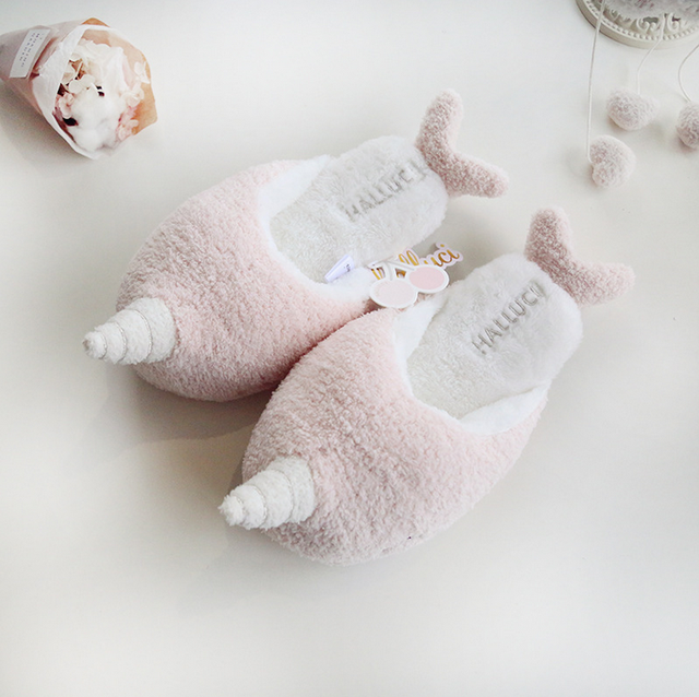 Cute Unicorn Slippers Women's House Shoes For Indoor Bedroom Slippers Soft  Bottom Comfortable Shoes Adult Flats